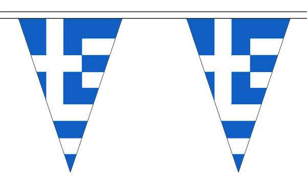 Greece Triangle Bunting