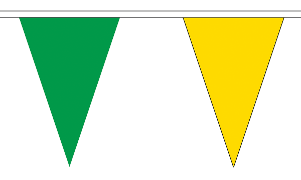Green and Yellow Triangle Bunting