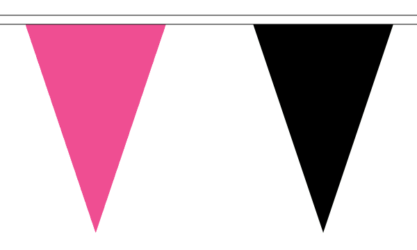 Pink and Black Triangle Bunting
