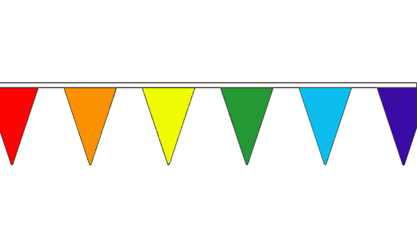 Rainbow Multi Coloured Triangle Bunting
