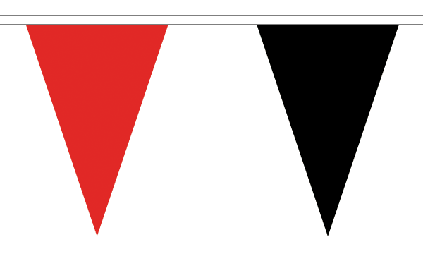 Red and Black Triangle Bunting