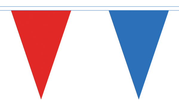 Red and Royal Blue Triangle Bunting