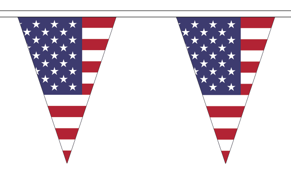 USA (United States) Triangle Bunting