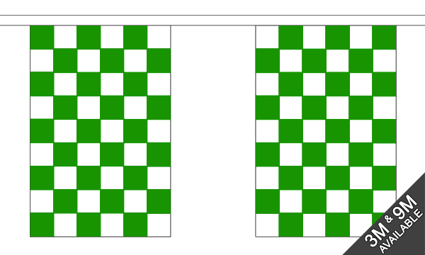 Green and White Check Bunting
