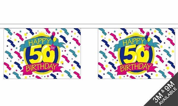Happy 50th Birthday Bunting