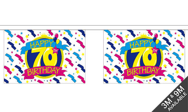 Happy 70th Birthday Bunting
