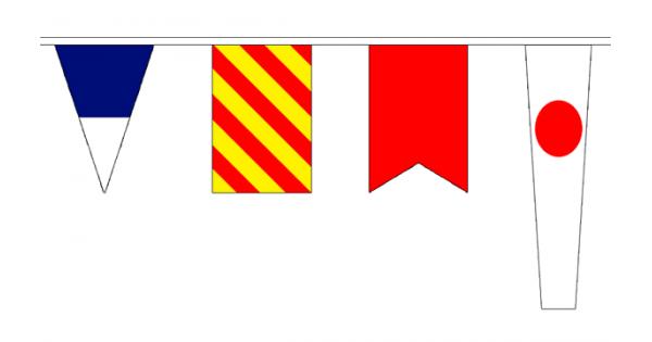 Art Décor: Signal Bunting Flags Alphabet Code