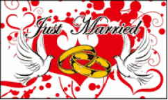 Just Married Flags