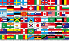 70 Multi Nations Flags