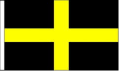 Saint David Hand Waving Flags