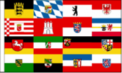 German State Table Flags