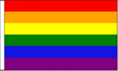 Gay Pride Table Flags