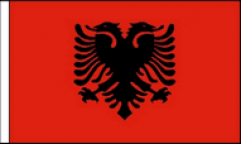 Albania Hand Waving Flags