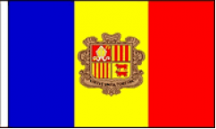 Andorra Hand Waving Flags