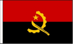 Angola Hand Waving Flags