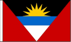 Antigua and Barbuda Hand Waving Flags