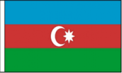 Azerbaijan Hand Waving Flags