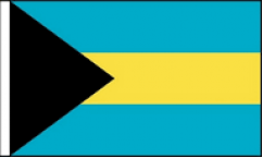 Bahamas Hand Waving Flags