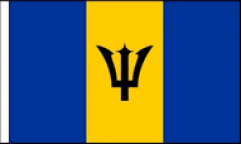 Barbados Hand Waving Flags