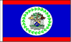 Belize Hand Waving Flags