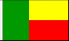 Benin Hand Waving Flags