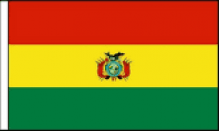 Bolivia Hand Waving Flags