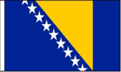 Bosnia and Herzegovina Hand Waving Flags