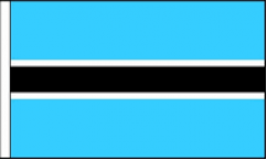 Botswana Hand Waving Flags