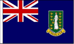 British Virgin Isles Table Flags