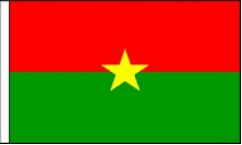 Burkina Faso Hand Waving Flags