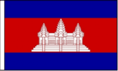 Cambodia Hand Waving Flags