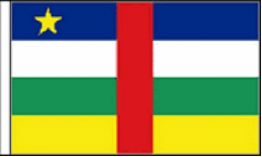 Central African Republic Hand Waving Flags
