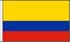 Colombia Hand Waving Flags