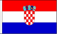 Croatia Hand Waving Flags