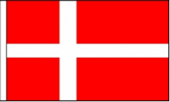 Denmark Hand Waving Flags