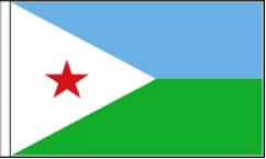 Djibouti Hand Waving Flags