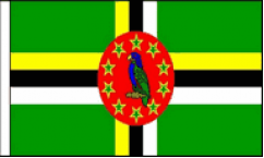 Dominica Hand Waving Flags
