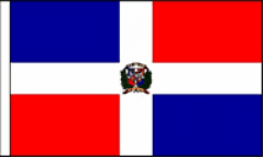 Dominican Republic Hand Waving Flags