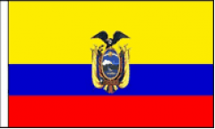 Ecuador Hand Waving Flags
