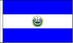 El Salvador Hand Waving Flags