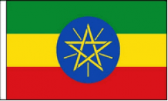Ethiopia Hand Waving Flags