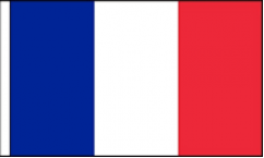 France Hand Waving Flags