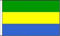 Gabon Hand Waving Flags