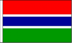 Gambia Hand Waving Flags