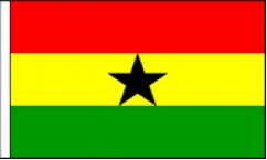 Ghana Table Flags