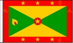 Grenada Hand Waving Flags