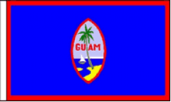Guam Table Flags