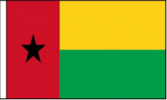 Guinea Bissau Hand Waving Flags