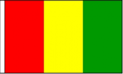 Guinea Hand Waving Flags