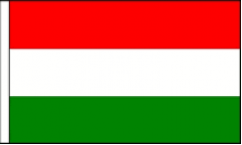 Hungary Hand Waving Flags